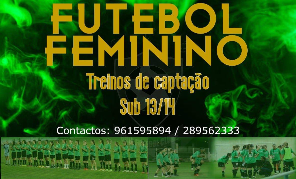 FUTEBOL FEMININO   Treinos de captação para Sub13/14