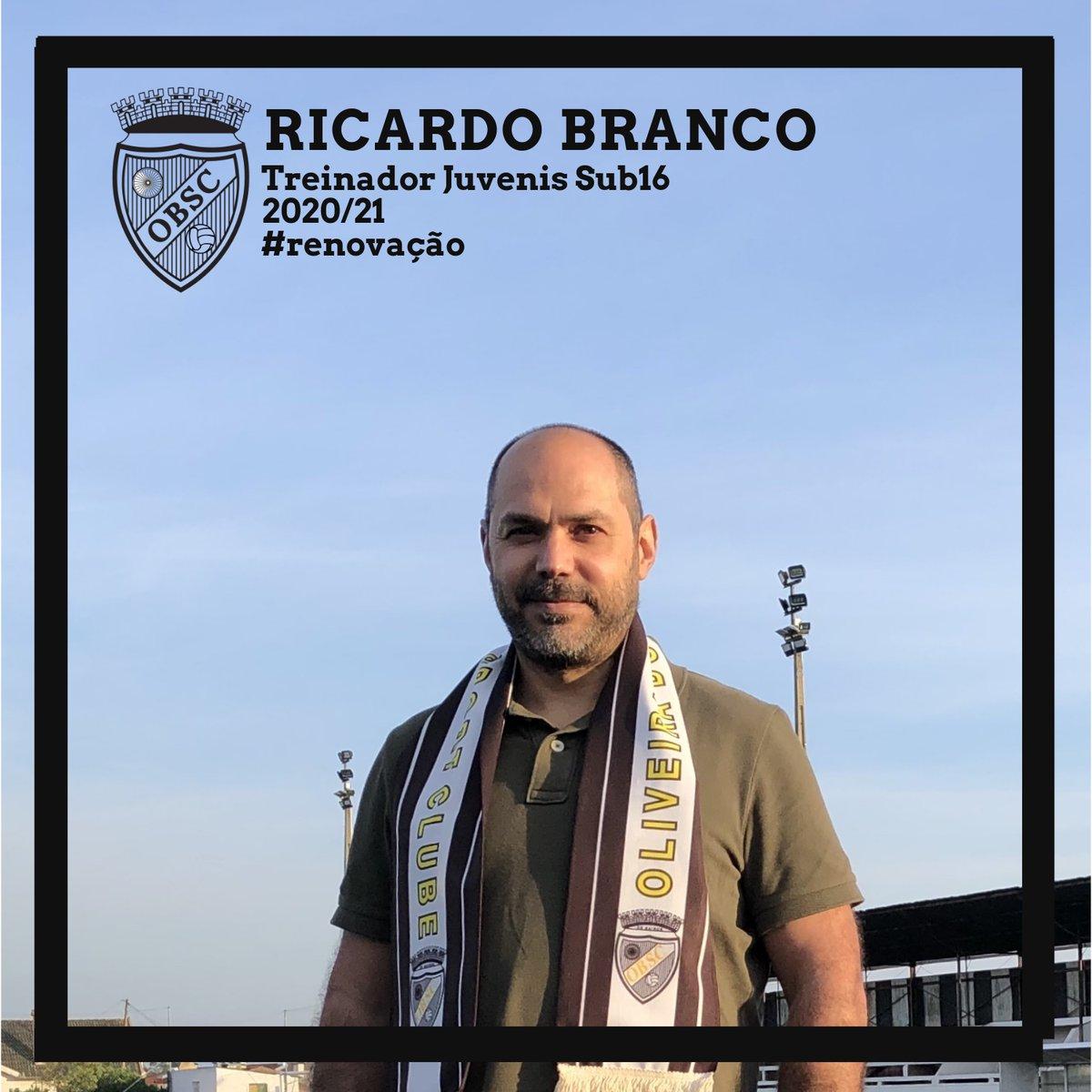 Ricardo Branco sobe a Treinador Principal