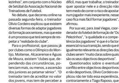 """Notícia """"O Setubalense"""""""