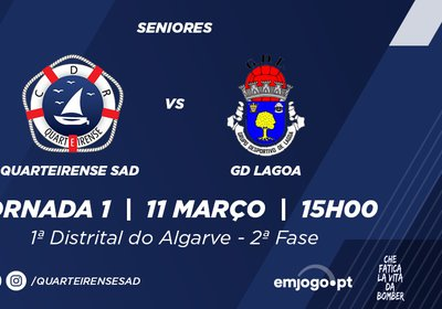2ªFASE Jornada 1: Quarteirense SAD vs GD Lagoa
