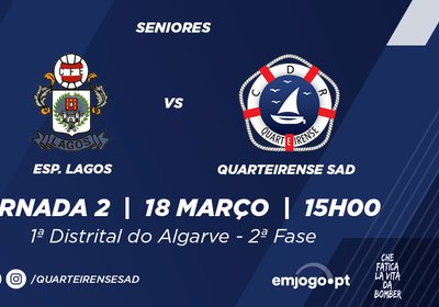 Jornada 2: Esp. Lagos vs Quarteirense SAD
