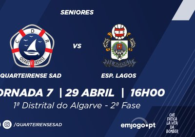 Jornada 7: Quarteirense SAD vs Esp. Lagos