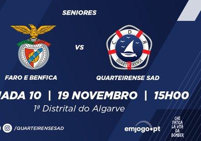 Jornada 10: Faro e Benfica vs Quarteirense SAD