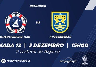 Jornada 12: Quarteirense SAD vs Ferreiras