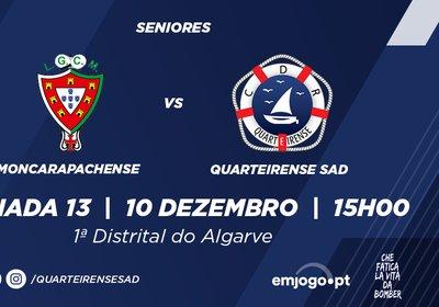 Jornada 13: Moncarapachense vs Quarteirense SAD