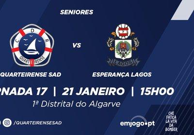 Jornada 17: Quarteirense SAD vs Esp. Lagos