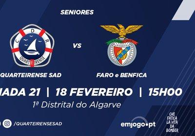 Jornada 21: Quarteirense SAD vs Faro e Benfica