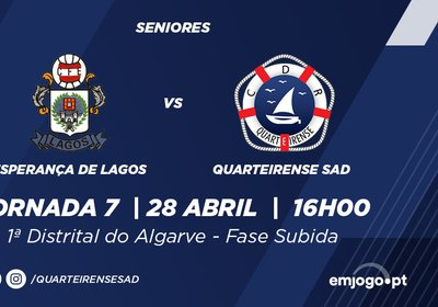 J7: Esp. Lagos vs Quarteirense SAD
