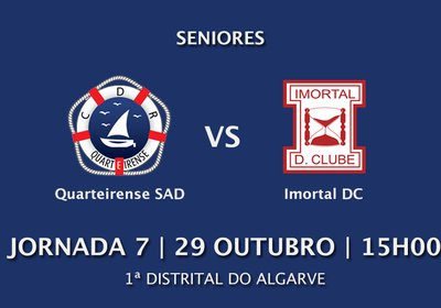 Jornada 7: Quarteirense SAD vs Imoral DC