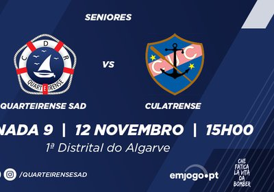 Jornada 9: Quarteirense SAD vs Culatrense