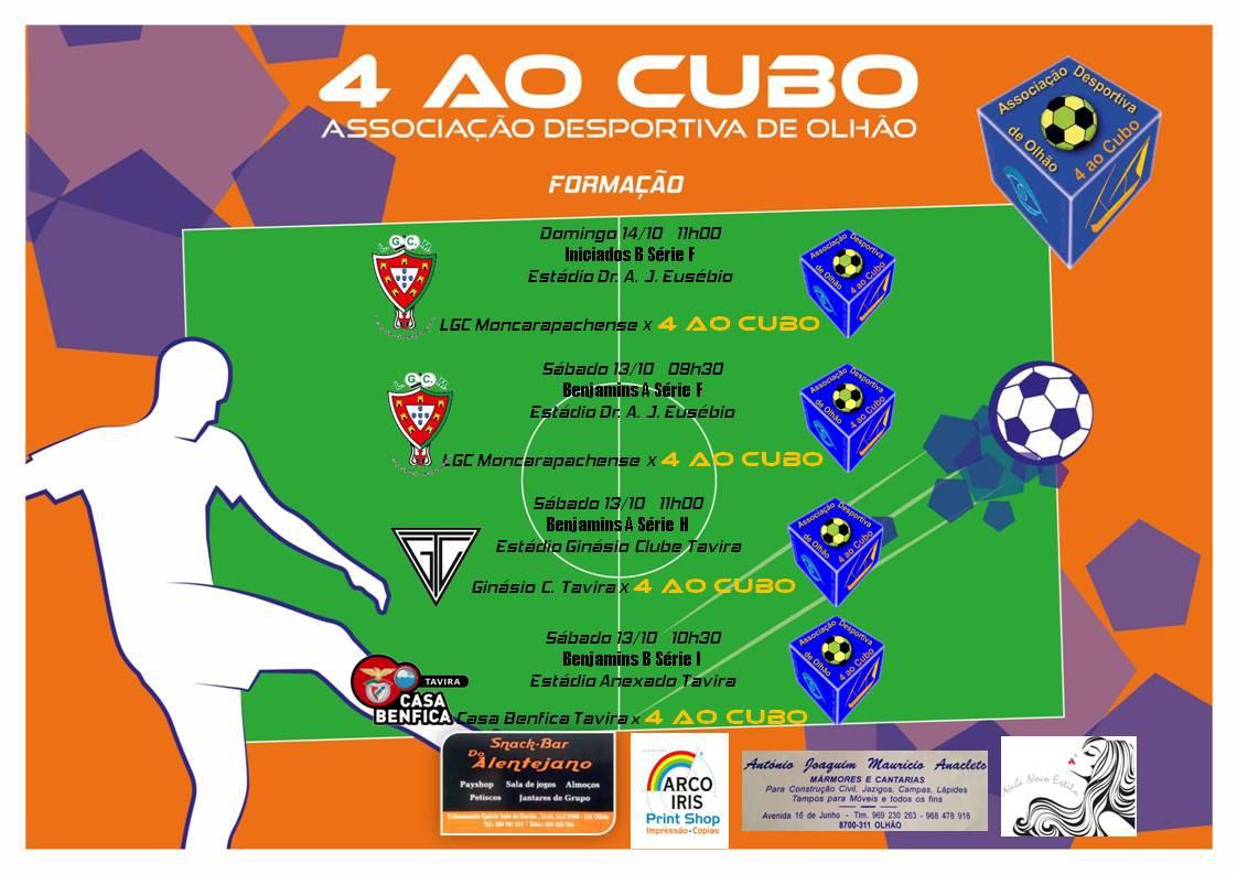 Calendário dos Jogos do fim‑de‑semana 13 a 14 de Outubro