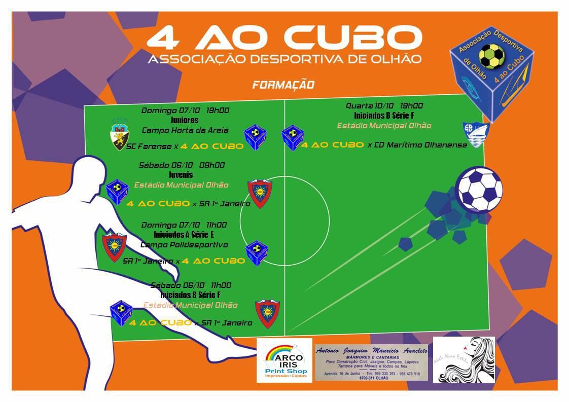Calendário de Jogos do fim‑de‑semana de 6 a 7 de Outubro e 10 de Outubro