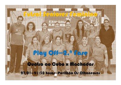 Futsal Feminino - Play Off - 2.ª Volta