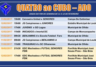 Calendário de Jogos do fim‑de‑semana de 11 e 12 de Fevereiro