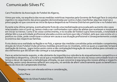 Comunicado  - SilvesFC - Carta Aberta