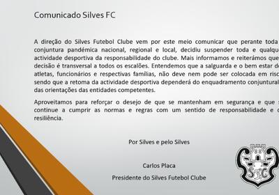 Comunicado  - SilvesFC 11-01-21