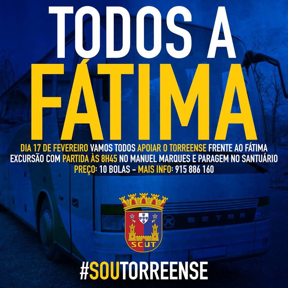 RUMO A FÁTIMA PARA APOIAR O TORREENSE!