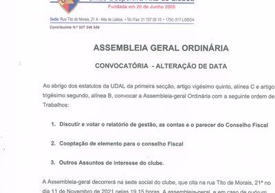Remarcação de Assembleia Geral