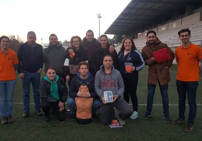 Vilaverdense FC com profissionais credenciados em SBV com DAE